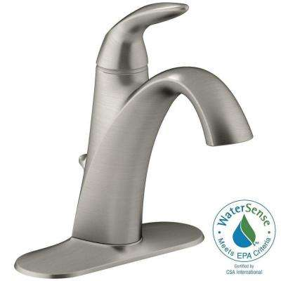 Alteo Single Hole Single Handle Mid Arc Water-Saving Bathroom Faucet in Vibrant Brushed Nickel