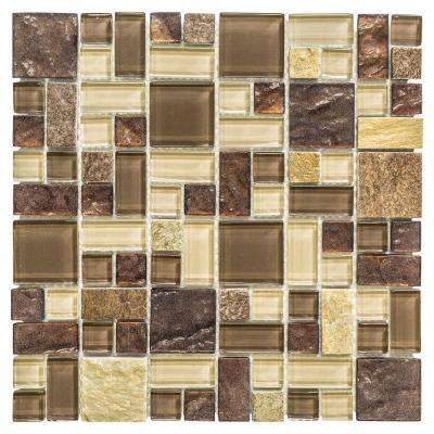 Native Ocean 12 in. x 12 in. x 8 mm Marble Mosaic Wall Tile