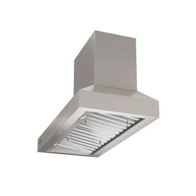 Pro Pyramid Turbo 36 in. Wall Mount Range Hood with Hidden Control and LED in Stainless Steel