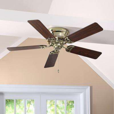 Brass ceiling fans lighting the home depot indoor bright brass ceiling fan audiocablefo