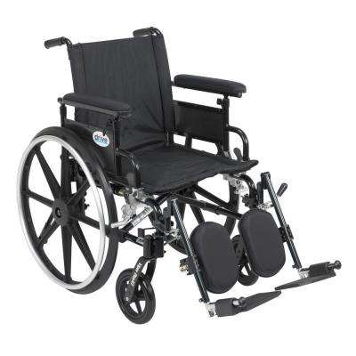 Viper Plus GT Wheelchair with Removable Flip Back Adjustable Arms, Adjustable Full Arms and Elevating Legrests