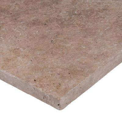 Mediterranean Walnut 16 in. x 16 in. Tumbled Travertine Paver Tile (20 Pieces / 35.6 Sq. ft. / Pallet)