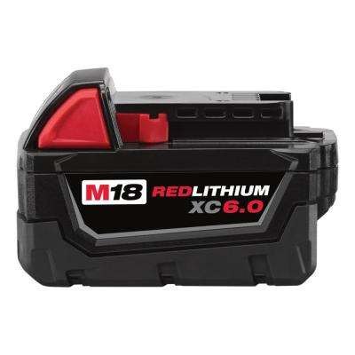 M18 18-Volt Redlithium XC 6.0Ah Extended Capacity Battery Pack