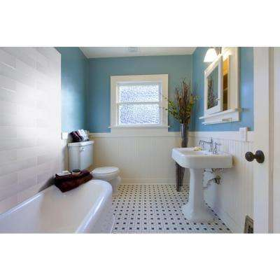 White Glossy 4 in. x 16 in. Glazed Ceramic Wall Tile (0.44 sq. ft.)