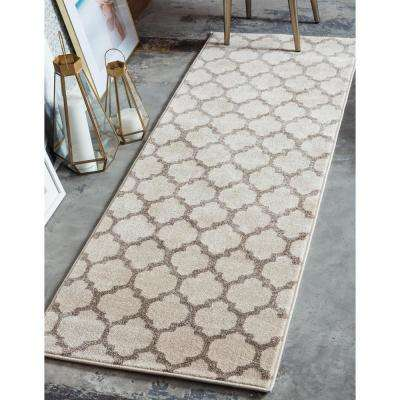 Trellis Philadelphia Beige/Light Brown 2' 7 x 10' 0 Runner Rug