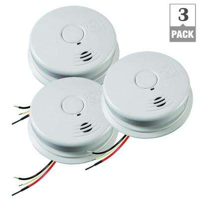 Worry Free Hardwired Inter Connectable 120-Volt Smoke Alarm with 10-Year Lithium Battery Back Up (3-Pack)