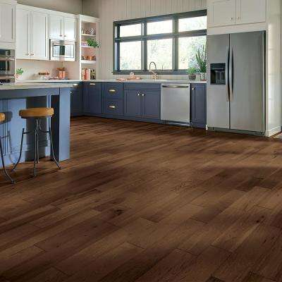 Hydropel Hickory Medium Brown 7/16 in. T x 5 in. W x Varying L Waterproof Engineered Hardwood Flooring (22.6 sq. ft.)