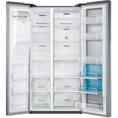 28.5 cu. ft. Side by Side Refrigerator in Stainless Steel, Food Showcase Design