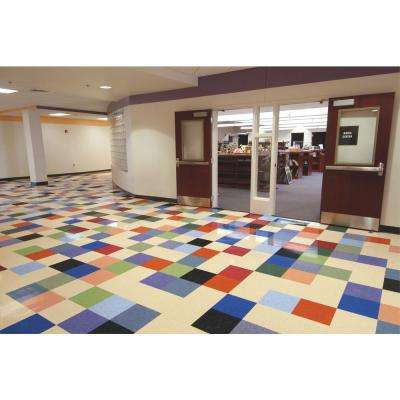 Imperial Texture VCT 12 in. x 12 in. Polar White Standard Excelon Commercial Vinyl Tile (45 sq. ft. / case)