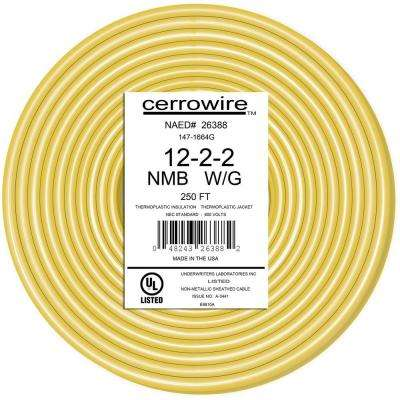 250 ft. 12/2/2 NM-B Wire, Yellow