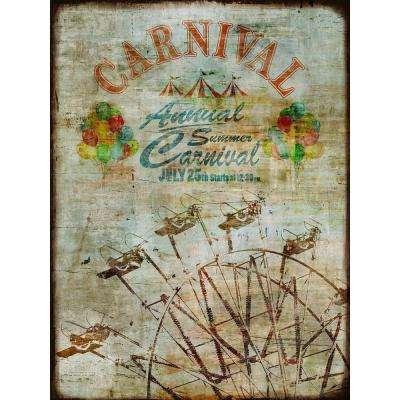 "40 in. x 30 in. ""Summer Carnival"" by Sofia Fox Gallery Wrapped Canvas Wall Art"