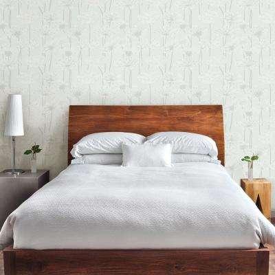 Grey Dandelion Meadow Wallpaper