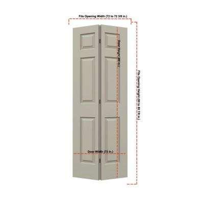 Smooth 6-Panel Hollow Core Molded Interior Closet Bi-fold Door