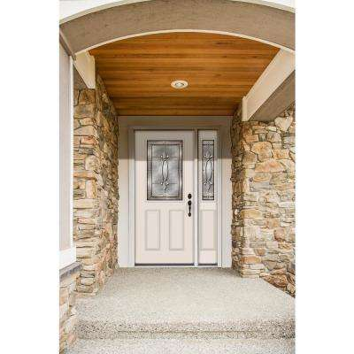 52 in. x 80 in. 1/2 Lite Blakely Primed Steel Prehung Left-Hand Inswing Front Door with Right-Hand Sidelite