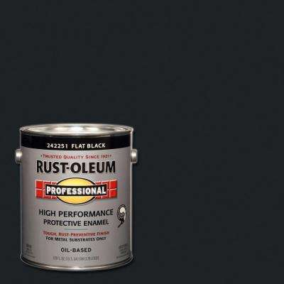 1 gal. Black Flat Protective Enamel Paint (Case of 2)