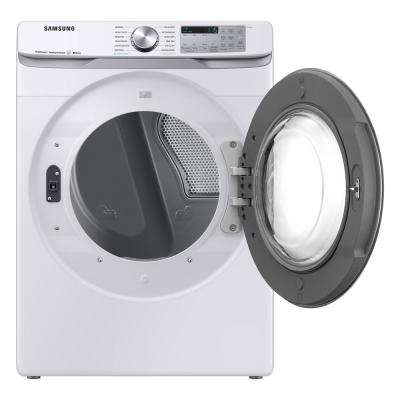 7.5 cu. ft. White Electric Dryer with Steam Sanitize+, ENERGY STAR