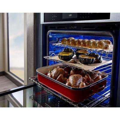 27 in. Double Electric Wall Oven Self-Cleaning with Convection in Stainless Steel