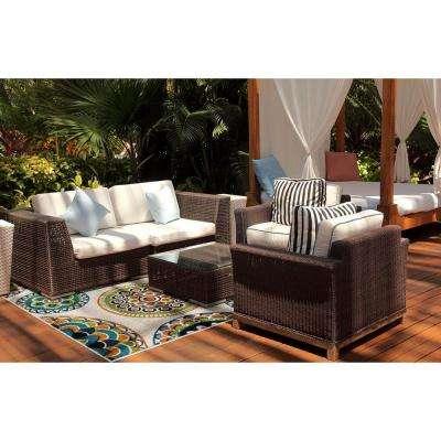 Patio Brights Burnette Multi 8 ft. x 10 ft. Indoor/Outdoor Area Rug