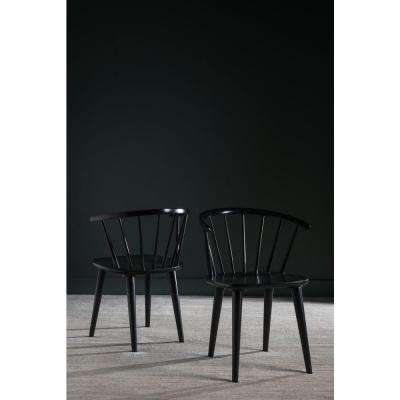 Blanchard Black Wood Dining Chair (Set of 2)