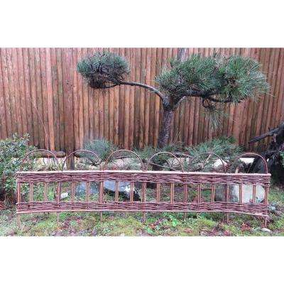 4 ft. Woven Willow Edging with Vertical Sections Pattern and Loop