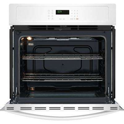 27 in. Single Electric Wall Oven Self-Cleaning in White