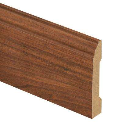 Peruvian Mahogany 9/16 in. Thick x 3-1/4 in. Wide x 94 in. Length Laminate Base Molding
