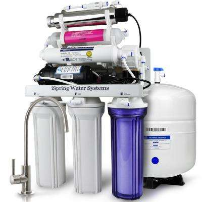 LittleWell WQA Gold Seal 7-Stage 100 GPD Reverse Osmosis Water Filter with Booster Pump, Flow-Sensor 11-Watt in Alkaline