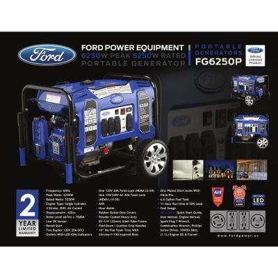 6,250/5,250-Watt Gasoline Powered Recoil Start Portable Generator with 420 cc Ducar Engine