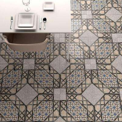 Olivia Gris 17-5/8 in. x 17-5/8 in. Ceramic Floor and Wall Tile (11.1 sq. ft. / case)