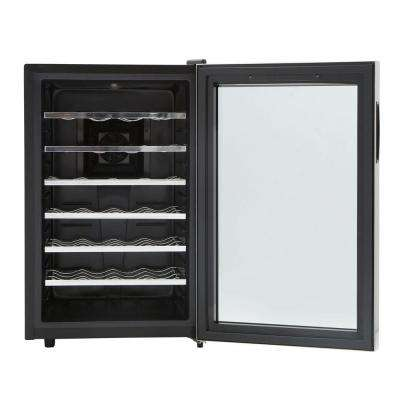 28-Bottle Touch Control Stainless Steel Wine Cooler