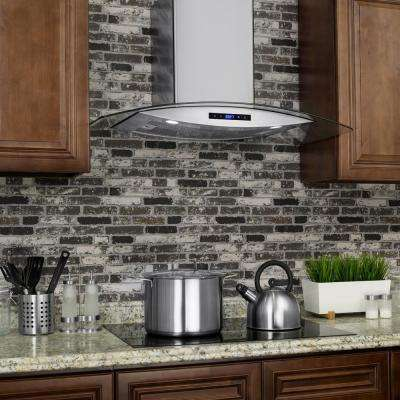 30 in. Convertible Wall Mount Range Hood in Stainless Steel with Tempered Glass and Touch Controls