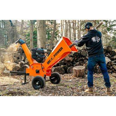 4 in. 9.5 HP Gas Powered Kohler Engine Chipper Shredder with DOT Road Legal Tires, Extended Axles and Trailer Tow Hitch