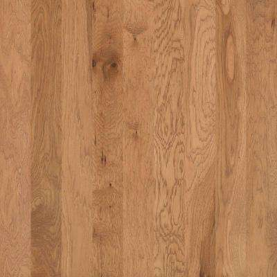 Take Home Sample - Hand Scraped Hickory Drury Lane Butter Cream Engineered Hardwood Flooring - 5 in. x 7 in.