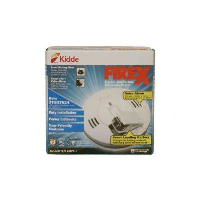FireX Hardwire Smoke and Carbon Monoxide Combination Detector with 9V Battery Backup and Voice Alarm (3-pack)