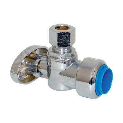 1/2 in. Nominal Push-Fit x 3/8 in. Compression Angle Stop Valve
