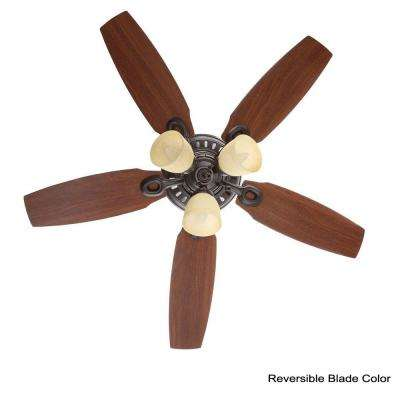 Hatherton 46 in. Indoor New Bronze Ceiling Fan with Light Kit
