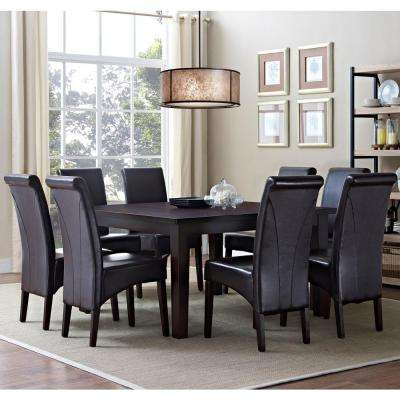 Avalon 9-Piece Tanners Brown Dining Set