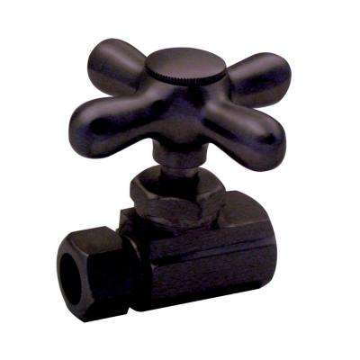 1/2 in. IPS Inlet Straight Stop with Cross Handle in Oil Rubbed Bronze-DISCONTINUED
