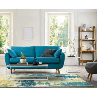 Skyline Blue 8 ft. x 10 ft. Watercolors Area Rug