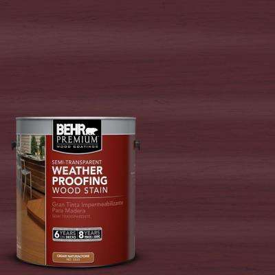 1-gal. #ST-106 Bordeaux Semi-Transparent Weatherproofing Wood Stain