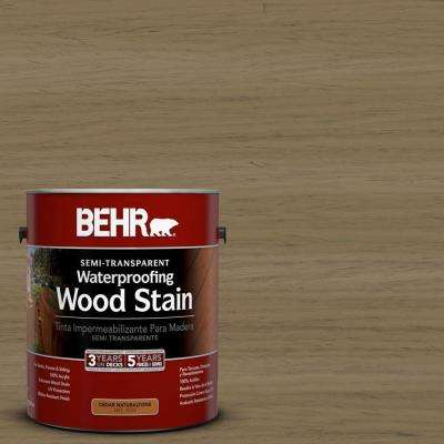 1-gal. #ST-153 Taupe Semi-Transparent Waterproofing Wood Stain