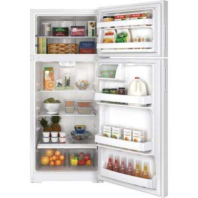 17.6 cu. ft. Top Freezer Refrigerator in White