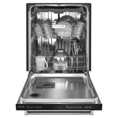24 in. Top Control Built-In Tall Tub Dishwasher in Black with Stainless Steel Tub and Third Level Utensil Rack