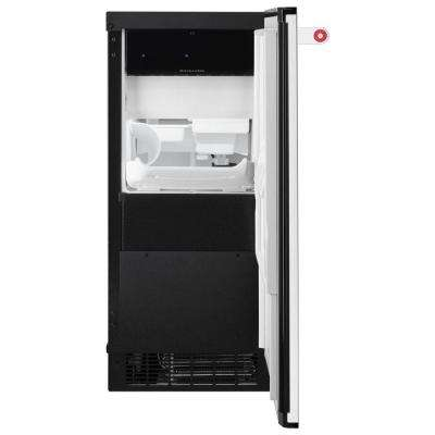 15 in. 51 lbs. Built-In or Freestanding Ice Maker in Black Stainless