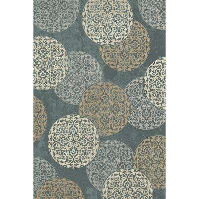 Melody Blue 2 ft. x 3 ft. 7 in. Indoor Accent Rug