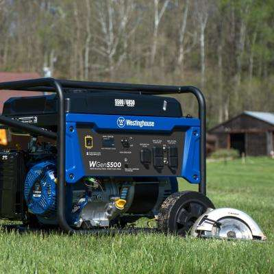 5,500-Watt Gasoline Powered Portable Generator with Digital Data Center