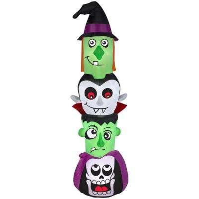 32.28 in. W x 21.65 in. D x 83.86 in. H Inflatable Halloween Totem Pole