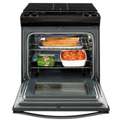 5.0 cu. ft. Gas Range with Cast-Iron Grates in Fingerprint Resistant Black Stainless