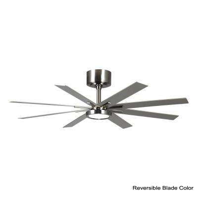 Empire 60 in. LED Indoor Brushed Steel Ceiling Fan with Light Kit
