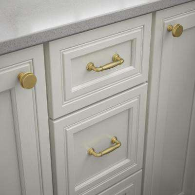 Classic Elegance 3 in. (76mm) Center-to-Center Brushed Brass Drawer Pull